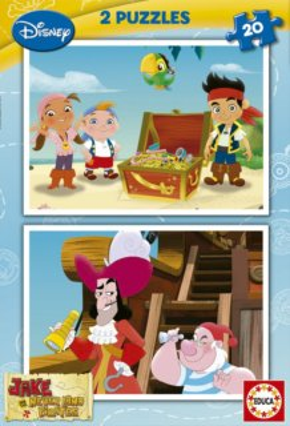 EDUCA Puzzle Jake a piráti ze Země Nezemě 2x20 dílků