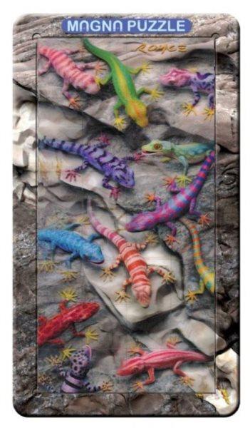 Piatnik 3D magnetické puzzle Ještěrky 32 dílků