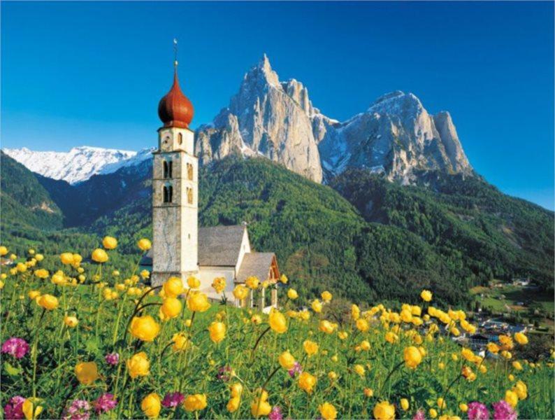 CLEMENTONI Puzzle Kostel sv. Valentina, Itálie 1500 dílků
