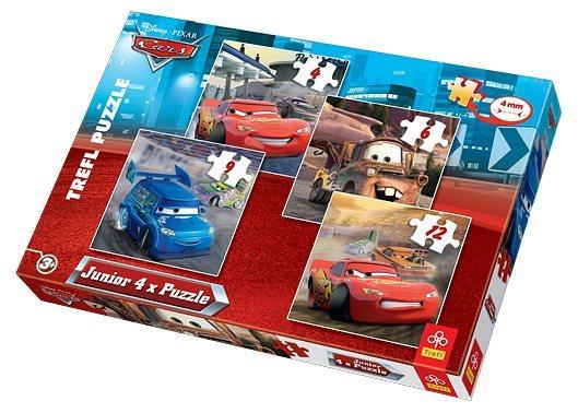 Junior puzzle auta cars 4v1 cars junior puzzle počet dílků 4 6 9 12