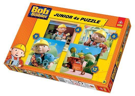 TREFL Junior puzzle Bořek Stavitel 4v1 (4,6,9,12 dílků)