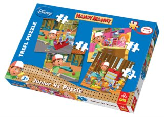 TREFL Junior puzzle Mistr Manny 4v1 (4,6,9,12 dílků)