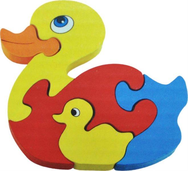 Dětské dřevěné puzzle, Kačenky