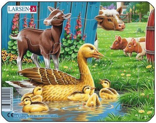 LARSEN Puzzle Kačenky s kůzletem 7 dílků