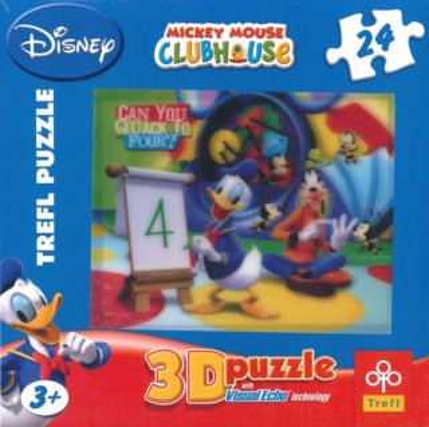 TREFL Puzzle Kačer Donald: Lekce počítání 3D 24 dílků
