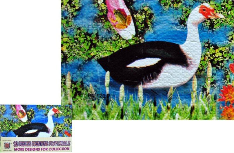 Pěnové puzzle 24 dílků - Kachna pižmová