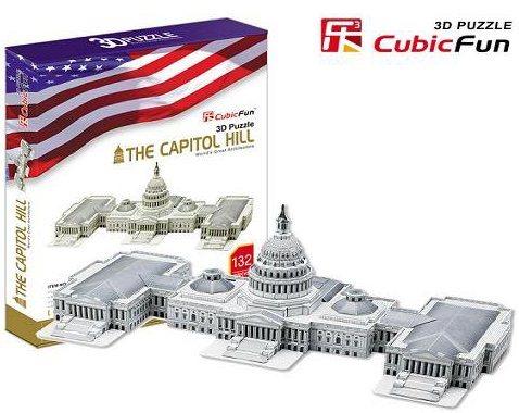 CUBICFUN 3D puzzle Kapitol 132 dílků