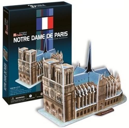 CUBICFUN 3D puzzle Katedrála Notre-Dame 40 dílků