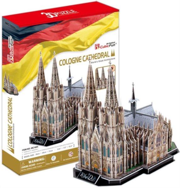 CUBICFUN poškozený obal: 3D puzzle Kolínský dóm (Katedrála sv. Petra) 179 dílků