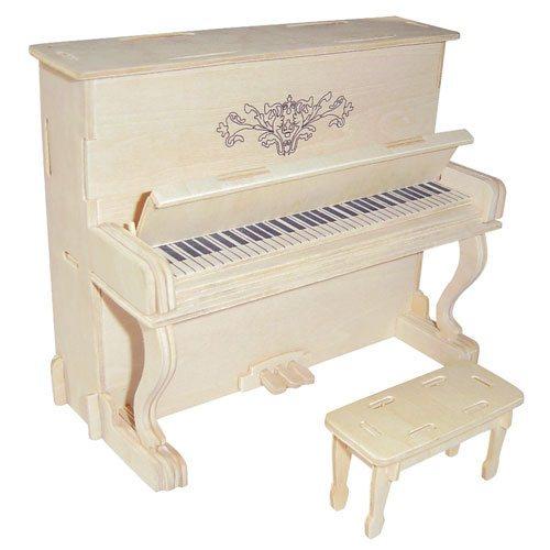 3D dřevěné puzzle Klavír