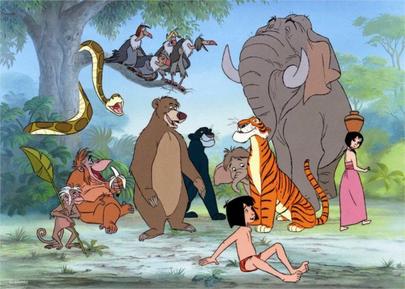 Podlahové puzzle pro děti DINO - Kniha džunglí: Mauglí a přátelé - 24 dílků