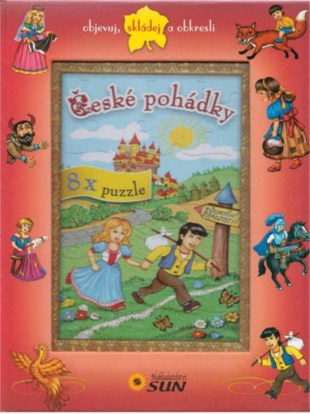 Kniha s puzzle - České pohádky 8x25 dílků, Nakladatelství SUN