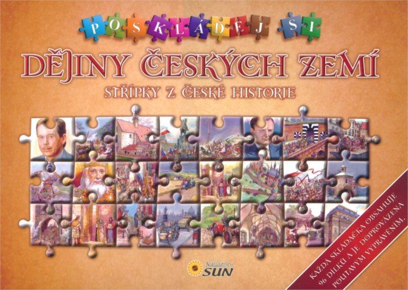 Kniha s puzzle - Dějiny českých zemí 4x96 dílků