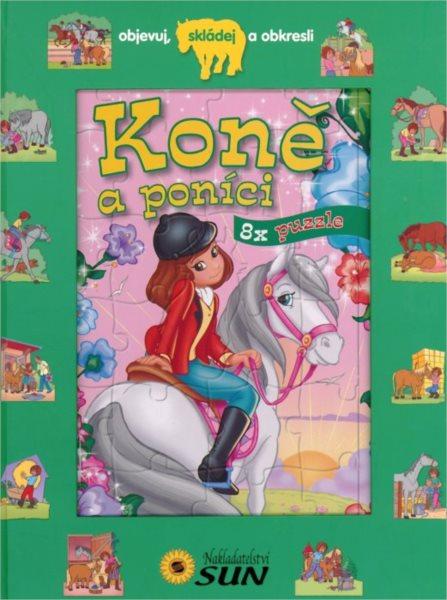 Kniha s puzzle - Koně a poníci 8x25 dílků