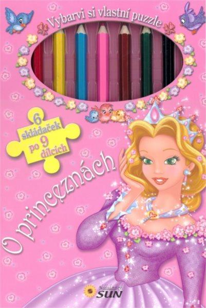 Kniha s puzzle - O princeznách 6x9 dílků