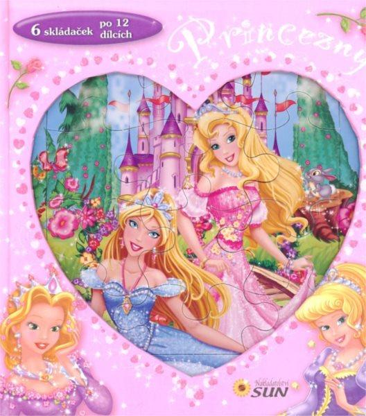 Nakladatelství SUN Kniha s puzzle: Princezny 6x12 dílků