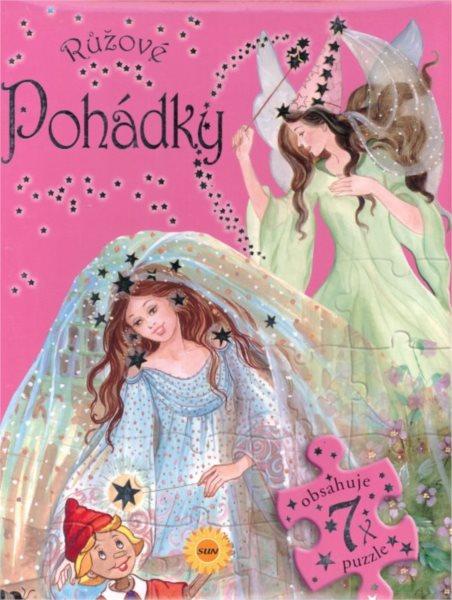 Nakladatelství SUN Kniha s puzzle: Růžové pohádky 7x24 dílků