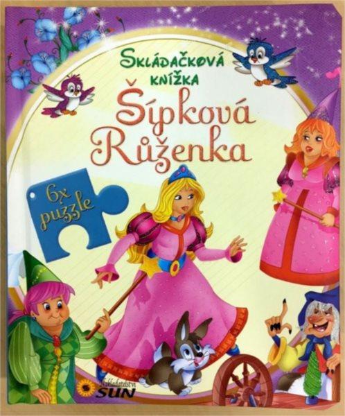 Kniha s puzzle - Šípková Růženka 6x6 dílků, Nakladatelství SUN