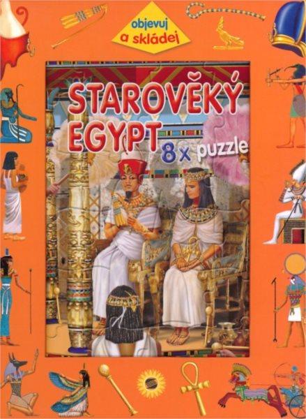 Kniha s puzzle - Starověký Egypt 8x25 dílků