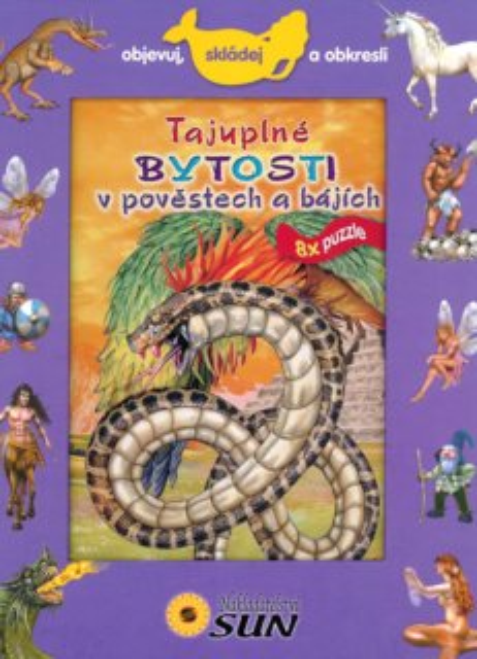 Kniha s puzzle - Tajuplné bytosti v pověstech a bájích 8x25 dílků