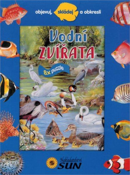 Nakladatelství SUN Kniha s puzzle: Vodní zvířata 8x25 dílků