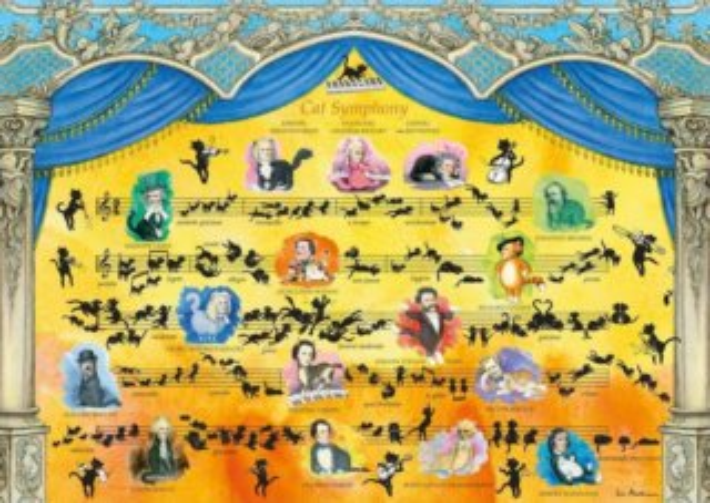 HEYE Puzzle Kočičí symfonie 2000 dílků