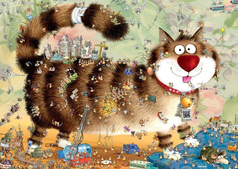 HEYE Puzzle Kočičí život 1000 dílků