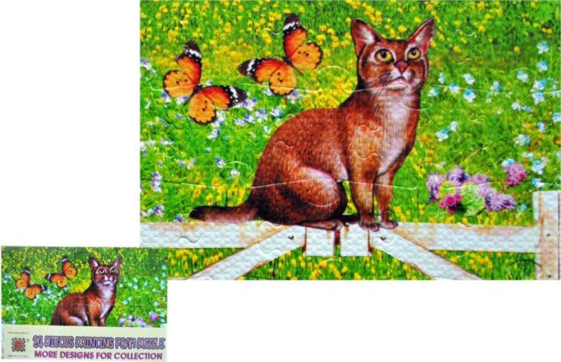 Pěnové puzzle 24 dílků - Kočka