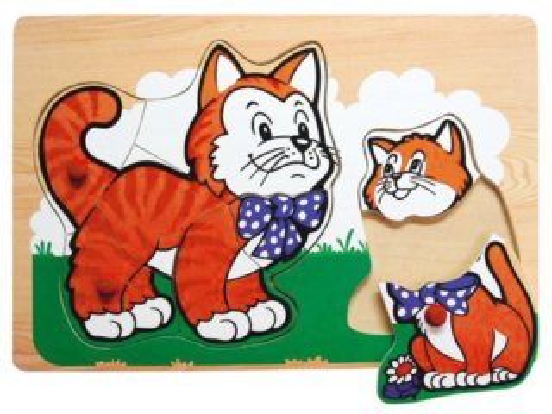 Vkládací puzzle Kočka a kotě