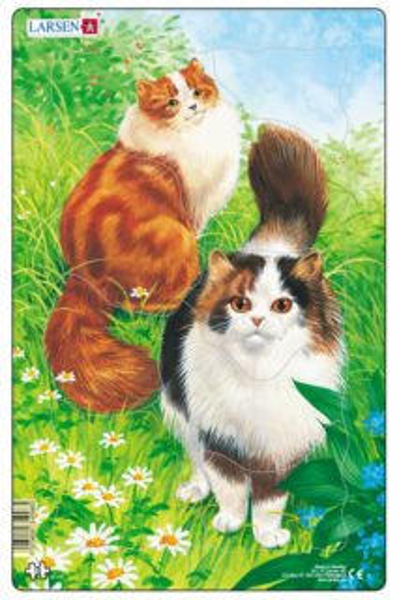 LARSEN Puzzle Kočky (1) 10 dílků