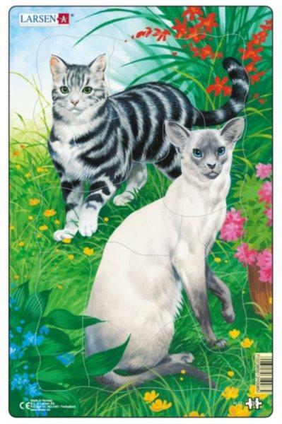 LARSEN Puzzle Kočky (2) 10 dílků