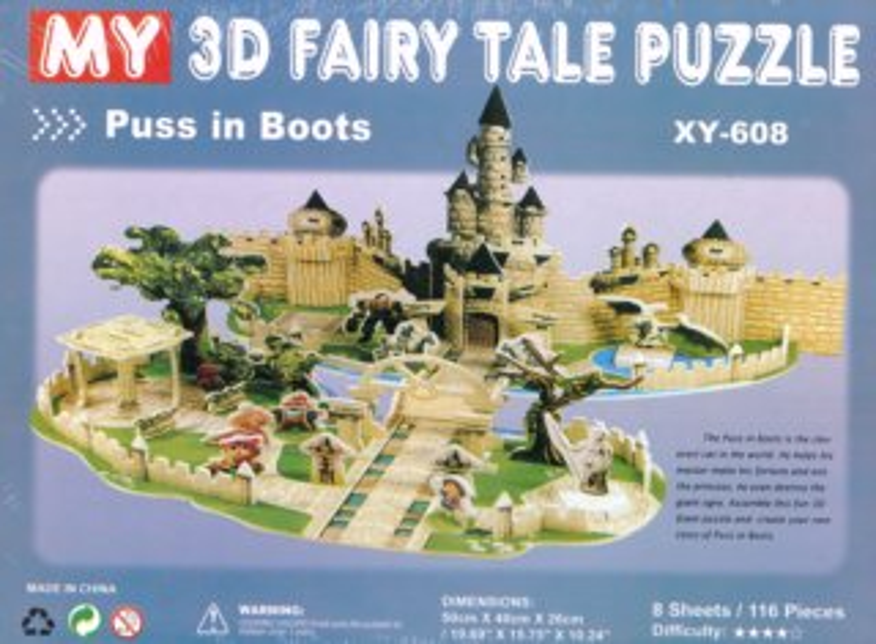 3D puzzle Kocour v botách