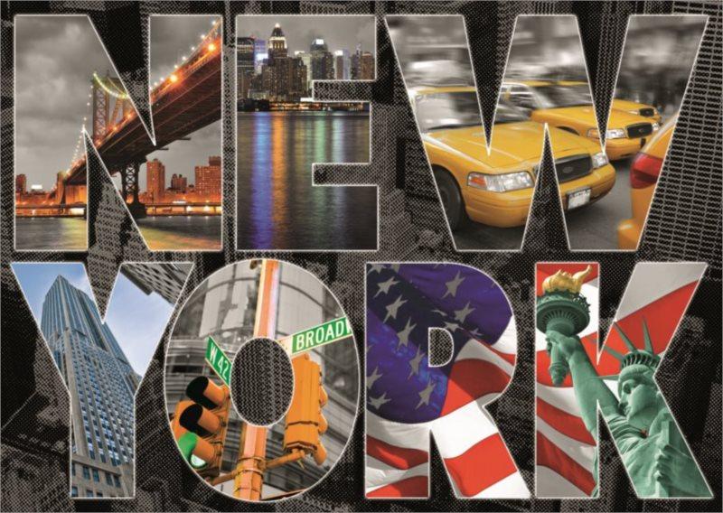 EDUCA Puzzle Koláž New York 1000 dílků