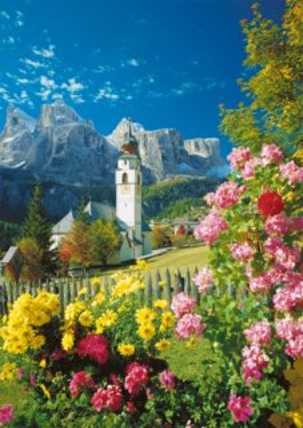 Puzzle RAVENSBURGER 1500 dílků - Kollfuschg, Italské Dolomity