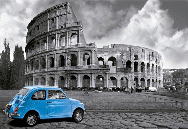 Puzzle EDUCA 1000 dílků - Koloseum, Řím, Itálie