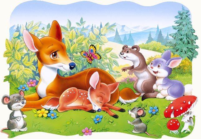 CASTORLAND Puzzle Koloušek (Srneček) 30 dílků