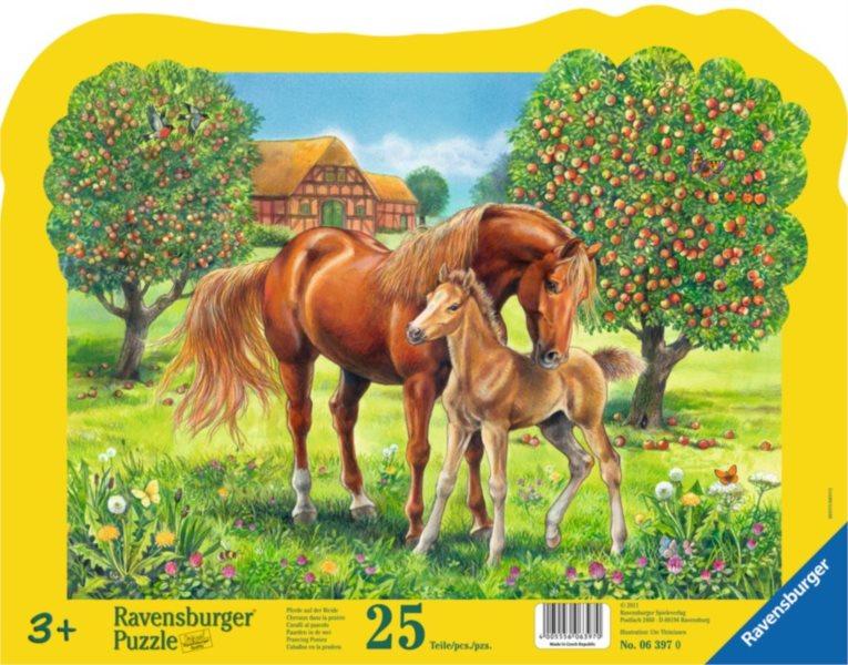 RAVENSBURGER Puzzle Koně na pastvě 25 dílků