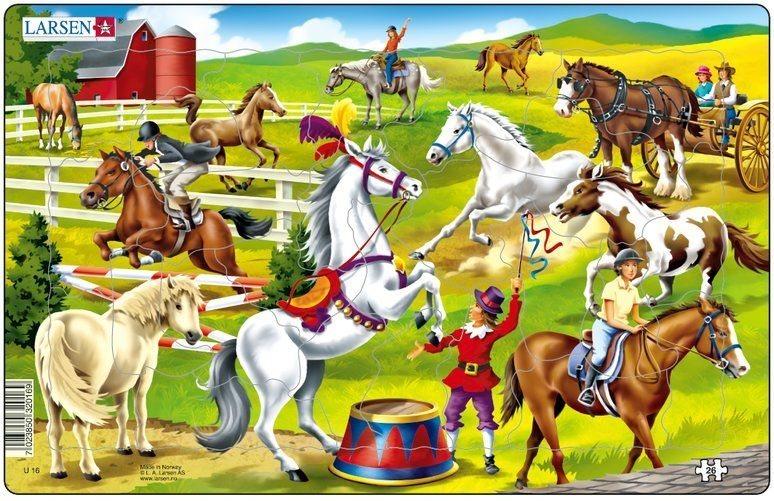 LARSEN Puzzle Koňská přehlídka 26 dílků