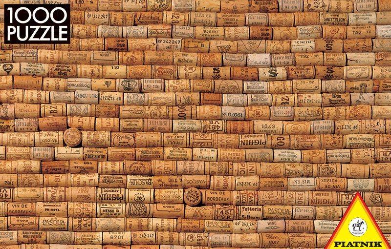 Obtížné puzzle PIATNIK 1000 dílků - Korkové zátky