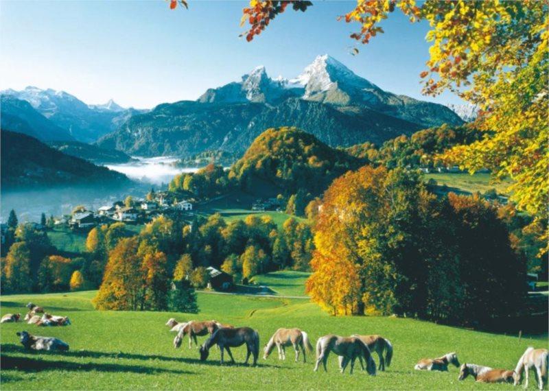 RAVENSBURGER Puzzle Podhorská krajina, Alpy - Watzmann 1000 dílků