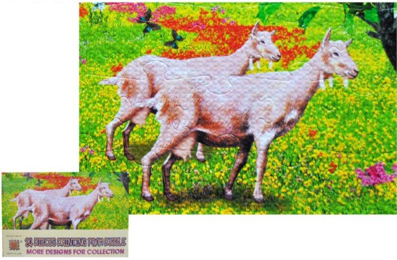 Pěnové puzzle 24 dílků - Kozy