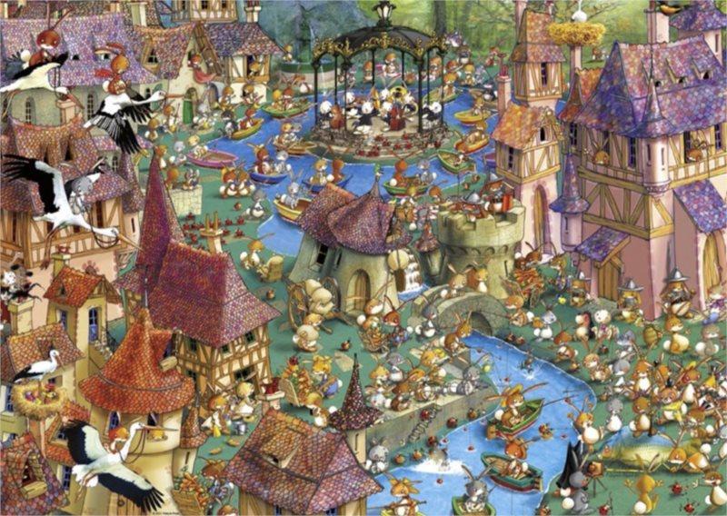 HEYE Puzzle Králíčkov 1000 dílků