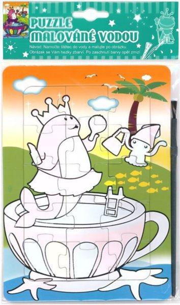 Puzzle s vodním malováním 15 dílků - Královna rybka