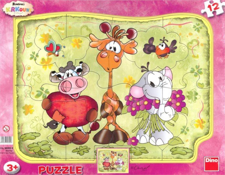 DINO Puzzle Krkouni 12 dílků