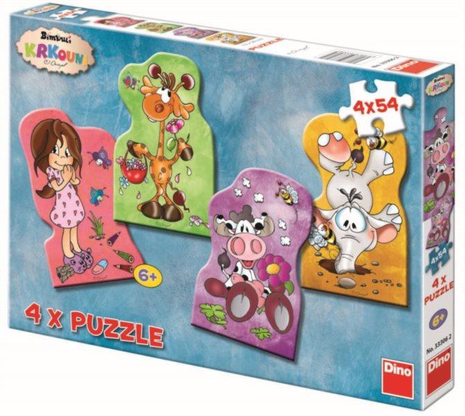DINO Puzzle Krkouni s Adélkou 4x54 dílků