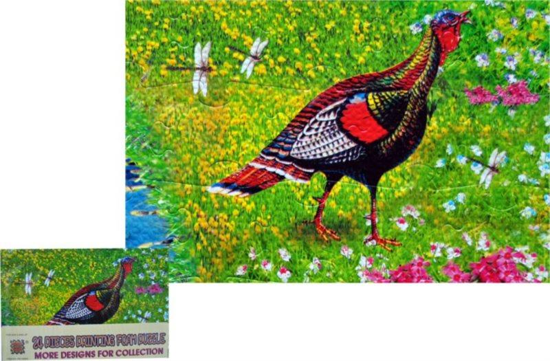 Pěnové puzzle 24 dílků - Krocan