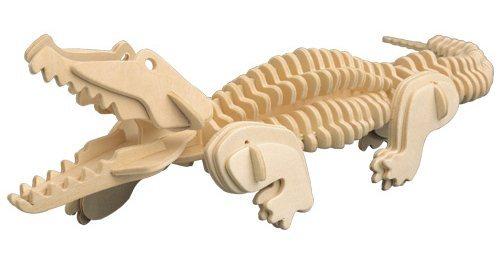 WOODEN TOY , WCK 3D puzzle Krokodýl