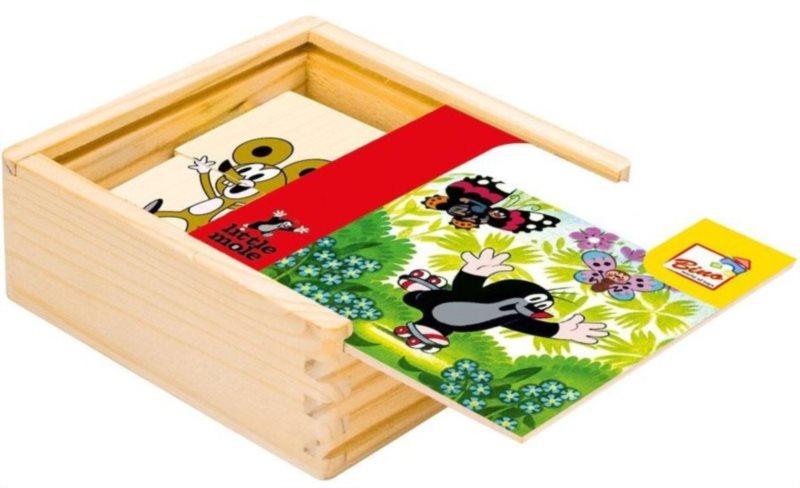 Puzzle BINO 13715 Krteček 4x4 - Dřevěná skládanka pro děti