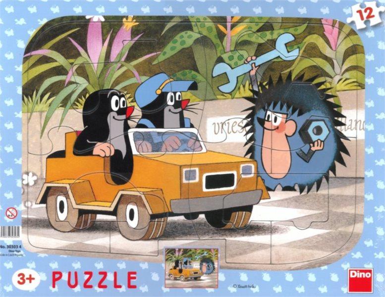 DINO Puzzle Krtek a autíčko 12 dílků