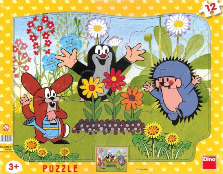 DINO Puzzle Krtek zahradníkem 12 dílků